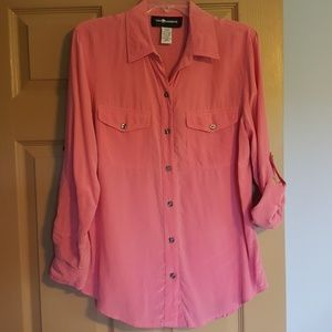 Sag Harbor pink 3/4 or Long sleeve size 8 top